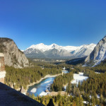 view from atop the fairmont banff springs